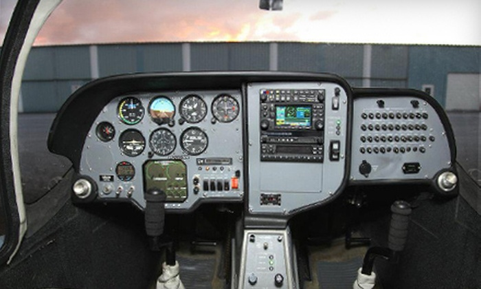 Dream Flight School - Westminster: $89 for Discovery Flight Lesson with Log Book at Dream Flight School in Westminster ($170 Value)