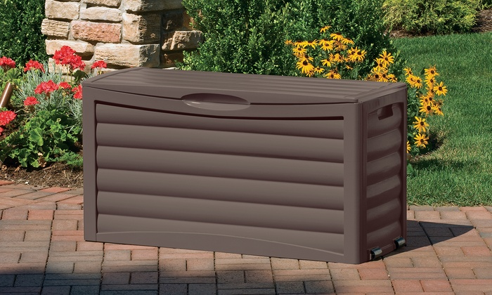 suncast 63gallon outdoor storage box suncast 63gallon outdoor storage box