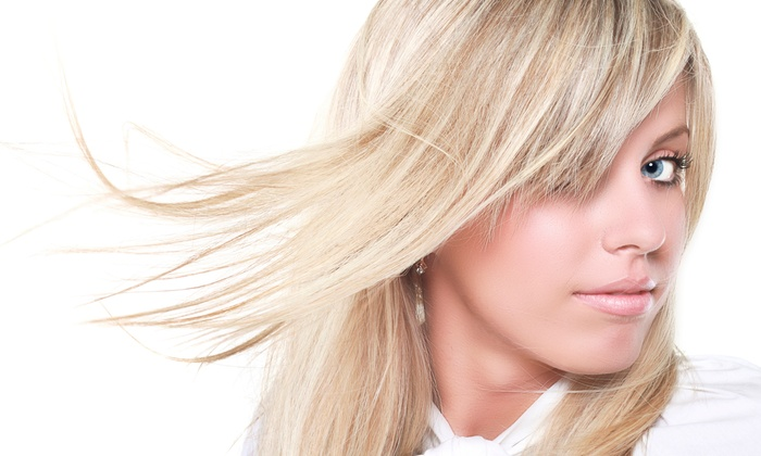 Amy At Noggins Salon - Cleveland: Haircut, Highlights, and Style from Noggins Salon (55% Off)