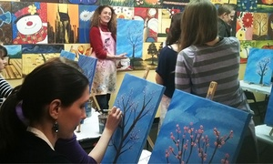 Paint Along Nashville: BYOB Painting Class or Wooden Door Hanger Classes at Paint Along Nashville (Up to 44% Off)