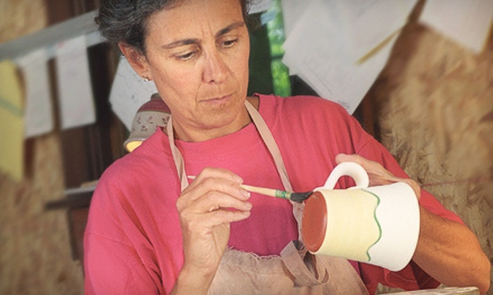 Danielle's Paint-Your-Own Pottery Studio - Langford: $15 for a Paint-Your-Own-Mug Session for Two at Danielle's Paint-Your-Own Pottery Studio ($30 Value)