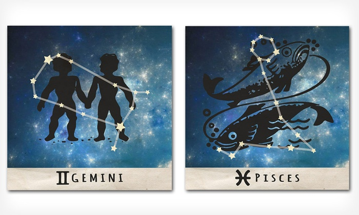 """16x16 Zodiac Signs on Metal: $29.99 for a 16"""" x 16"""" Zodiac Signs on Metal ($120 List Price). Multiple Options Available. Free Shipping and Returns."""