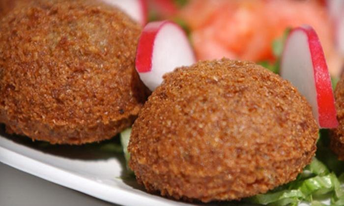 Mazaar - City Centre: Lebanese Dinner at Mazaar (Half Off). Two Options Available.