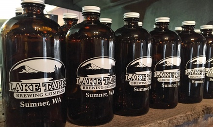Beer Flights and Growlers with Fills for One, Two, or Four at Lake Tapps Brewing Company (Up to 44% Off)