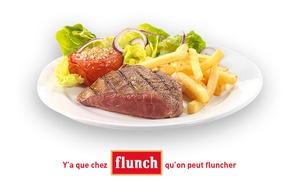 flunch: Chez flunch, pour 1€ seulement, bénéficiez de 10€ de réduction sur l'addition, midi et soir !*