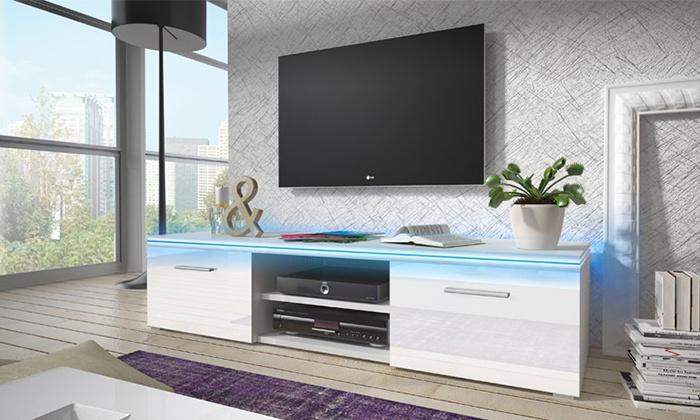 Parete Mobili Porta Tv Design.Mobile Porta Tv Con Led Groupon Goods