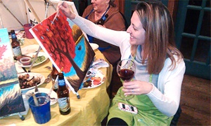 Charlie Hall's Drink and Dabble: Three-Hour Paint Party for One or Two at Charlie Hall's Drink and Dabble (40% Off)