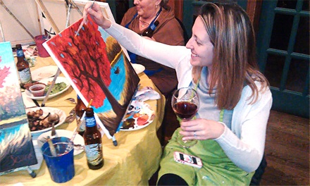 Three-Hour Paint Party for One or Two at Charlie Hall's Drink and Dabble (38% Off)