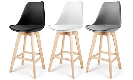 lot de tabourets de bar laikan groupon. Black Bedroom Furniture Sets. Home Design Ideas