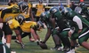 New Jersey Spartans Football Games - Malcolm X. Shabazz Athletic Complex: New Jersey Spartans Football Game for Two with Food and Drinks or T-Shirts on March 14 or May 9 (Up to 52% Off)
