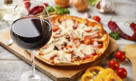 Dinner with Pasta Entree, 12-Inch Pizza, Caesar Salad, and Tiramisu at La Trattoria D'Italia (Up to 43% Off)