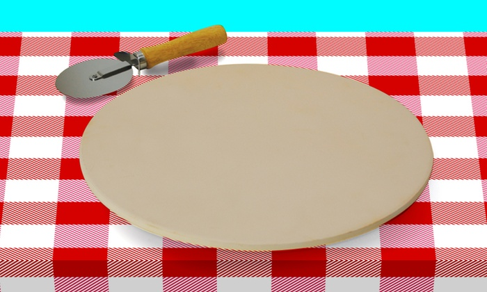 "15"" Pizza Stone with Pizza Cutter: $19.99 for a 15"" Pizza Stone with Pizza Cutter ($46.89 List Price). Free Shipping and Returns."