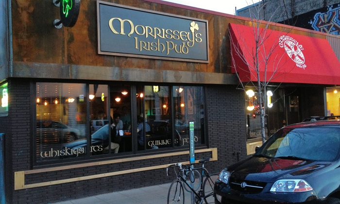 Morrissey's Irish Pub - Lyn-Lake: Pub Food and Drinks at Morrissey's Irish Pub (Up to 47% Off). Two Options Available.