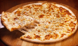 Ralph's Pizza: $20 Toward Lunch or Large, 3-Topping Pizza with Cheesy Garlic Bread and Soda at Ralph's Pizza (Up to 46% Off)