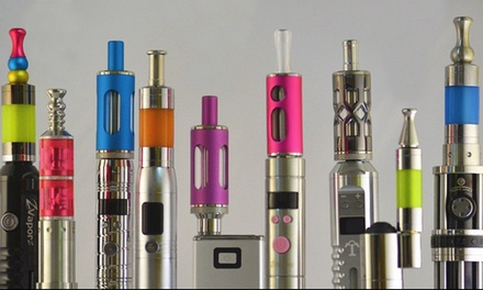 Custom E-Cigarettes and Accessories at Create A Cig Austin (50% Off). Two Options Available.