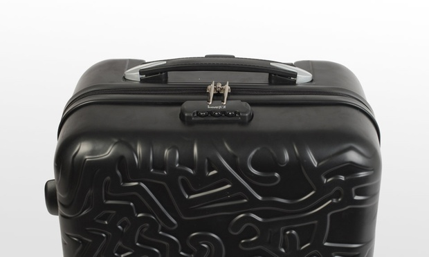 valise cabine pop art keith haring groupon shopping. Black Bedroom Furniture Sets. Home Design Ideas