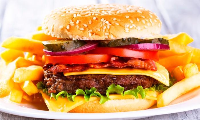 burger mit pommes und salat tavolino stuttgart groupon. Black Bedroom Furniture Sets. Home Design Ideas