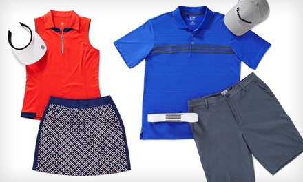 $40 for $75 Worth of Men's and Women's Golf Clothing at Golfsmith