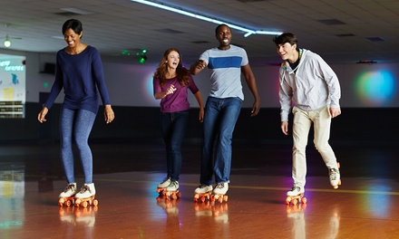 Admission for Two or Four with Skate Rental, Pizza, and Soda at Roller Motion Skate Center (Up to 48% Off)