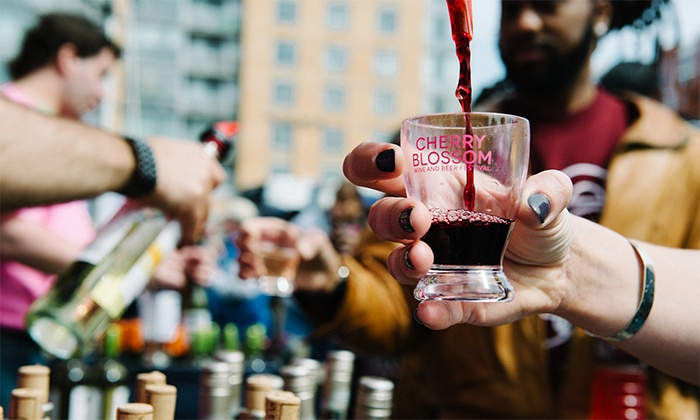 Cherry Blossom Beer & Wine Festival by Drink the District - Multiple Locations: Session One or Two Ticket to Cherry Blossom Beer & Wine Festival by Drink the District (36% Off)
