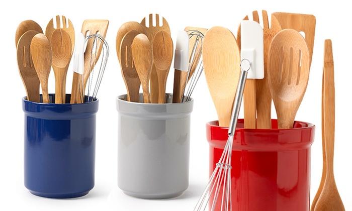 8 Piece Tub Of Tools Kitchen Utensil Set Groupon