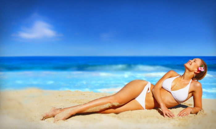 SunSpa Tan & Body - Blueberry Hills: Five Mystic Spray Tans or Tan Until 2013 Package With Six Months of Unlimited UV Tanning at SunSpa Tan & Body (Up to 70% Off)
