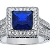 2.00 CTTW Lab Created Blue Sapphire Ring
