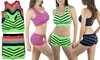 Women's Seamless Chevron-Print Sports Bras and Boyshorts: Women's Seamless Chevron-Print Sports Bras and Boyshorts (5pk. Bras, 6pk. Boyshorts)