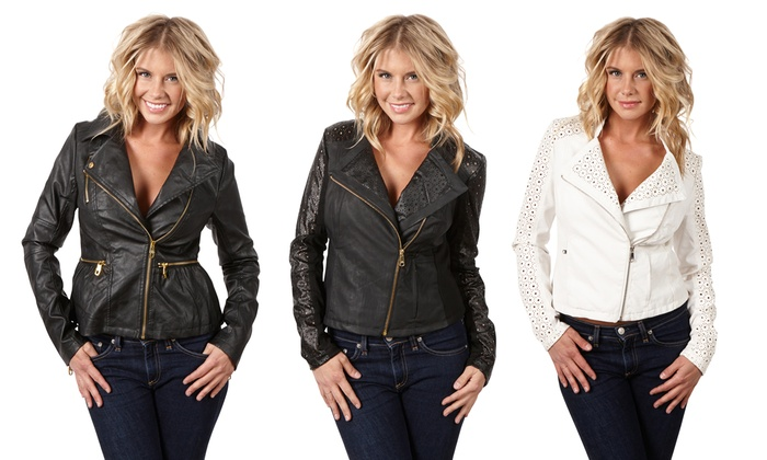 superior materials wholesale dealer available Steve Madden Faux Leather Jacket | Groupon Goods