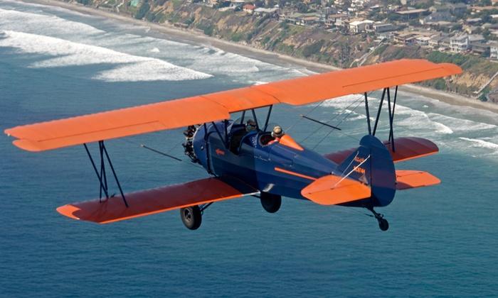 San Diego Air Tours - Kearny Mesa: $125 for a 20-Minute Biplane Ride for Two from San Diego Air Tours ($249 Value)