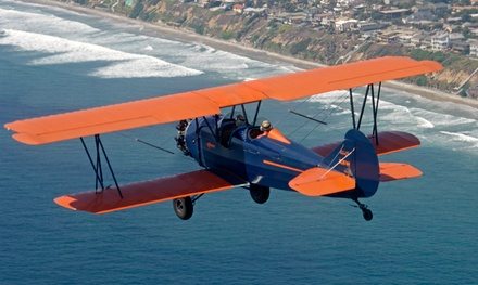 One 20-minute biplane ride over Mission Bay, La Jolla, Torrey Pines for up to two: redeemable Tuesday-Saturday - San Diego Air Tours in San Diego