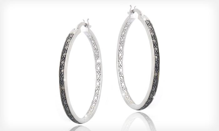 Black Diamond Accent Hoop Earrings: $14.99 for Black Diamond Accent 30mm Hoop Earrings ($75 List Price). Free Returns.