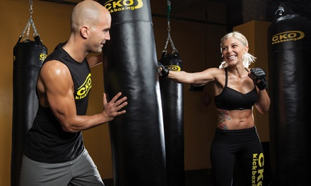 Three or Six Kickboxing Classes with One Pair of Gloves at CKO Kickboxing North Tustin (Up to 75% Off)