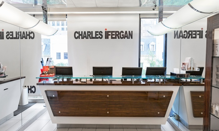 Charles Ifergan Salon - Multiple Locations: Haircut or Full-Highlights Package at Charles Ifergan Salon (Up to 54% Off)