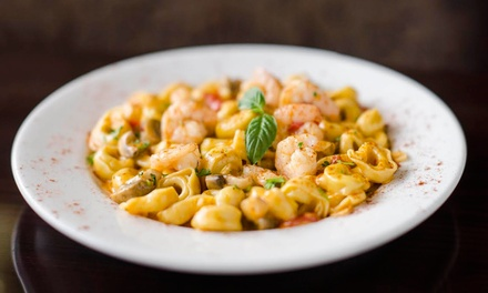 $35 for Dinner for Two with Appetizers and Wine at Vinzo's Italian Grill & Pizzeria (Up to $55.48 Value)