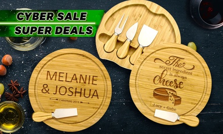 $34 for Personalised Cheese Board with Four Utensils (Don't Pay $69.95)