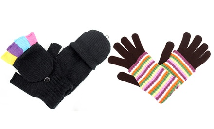 Women's Gloves and Pop-Top Mittens. Multiple Styles Available.