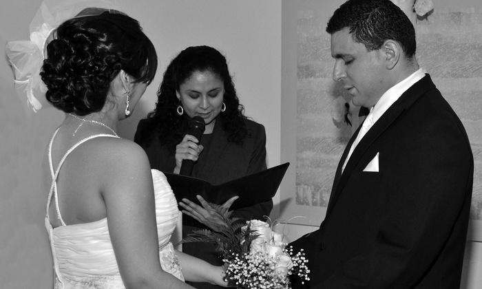 Adari's Photo Video Creations - Clark: $175 for English or Spanish Wedding Officiant Services at Adari's Photo Video Creations ($350 Value)