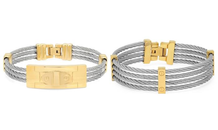 Men\'s Cable Wire Bracelets | Groupon Goods