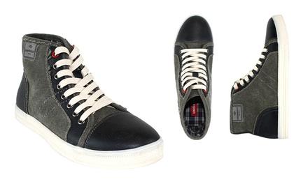 Unionbay Men's High-Top Sneaker (Grey, Size 10)