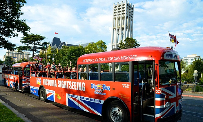 Big Bus Victoria - Multiple Locations: One-Day Hop-On Hop-Off Sightseeing Tour of Victoria for One, Two, or Four from Big Bus Victoria (Up to 55% Off)