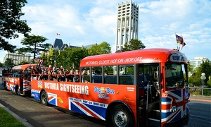 Big Bus Victoria: One-Day Hop-On Hop-Off Sightseeing Tour of Victoria for One, Two, or Four from Big Bus Victoria (Up to 55% Off)