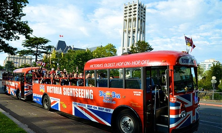 One-Day Hop-On Hop-Off Sightseeing Tour of Victoria for One, Two, or Four from Big Bus Victoria (Up to 55% Off)