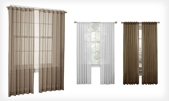 Set of Two Window Curtains: Set of Two Window Curtains (Up to 72% Off). Multiple Options Available. Free Shipping and Returns.
