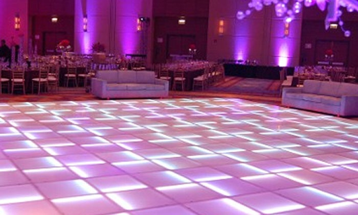 Any Event Mobile DJ - Garland: Four-Hour 16'x16' LED Dance-Floor Rental, Four Hours of DJ Service, or Both from Any Event Mobile DJ (Up to 52% Off)