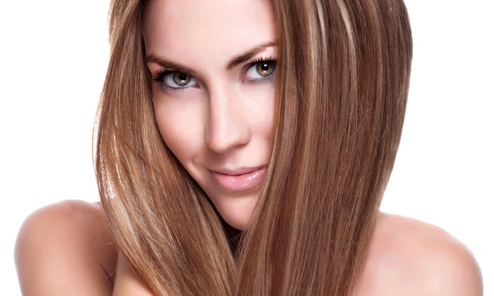 Green Apple Salon - Neartown/ Montrose: Haircut, Blow-Dry, and Conditioning Treatment with Option for Partial Highlights at Green Apple Salon (Up to Half Off)