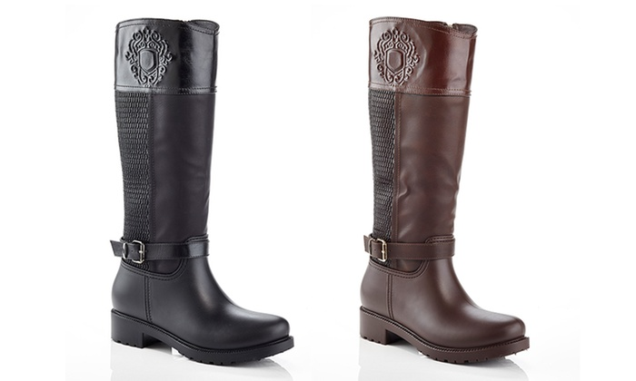 Snow Tec Waterproof Riding Boots | Groupon Goods