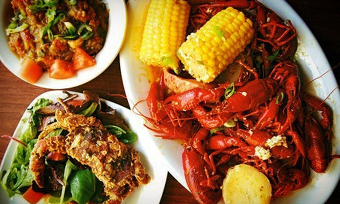 My Brother's Crawfish - Southeast Portland: Louisiana-Style Seafood and Drinks for Two or Four at My Brother's Crawfish (Half Off)