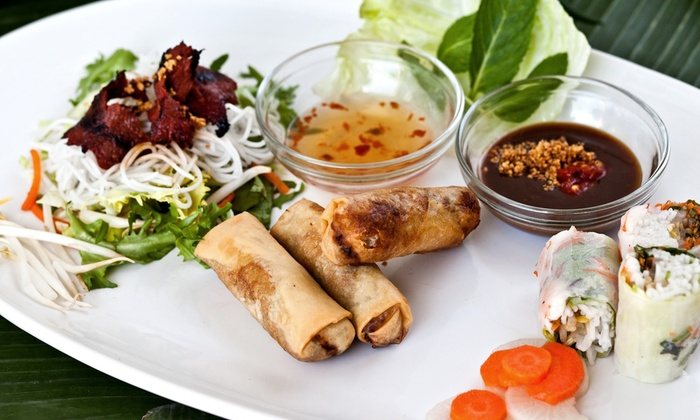 Pasteur - Edgewater: $60 for a Four-Course Vietnamese Meal for Two with Salads, Appetizers, Entrees, and Dessert at Pasteur