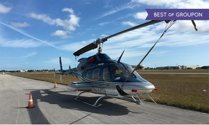 South Florida Helicopter Charter & Tours: Helicopter Day Trip to the Bahamas for One or Two (Up to 45% Off)